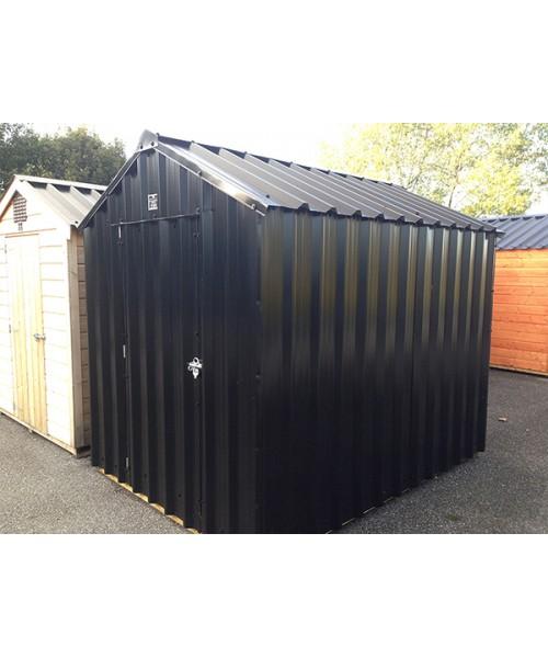 12ft x 6ft black steel garden shed garden sheds for sale for Metal sheds for sale