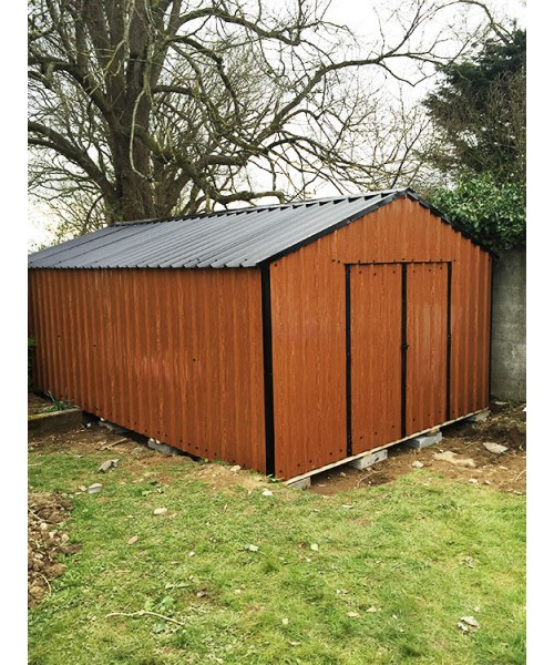 Garden Sheds Kilkenny 10ft x 20ft wood grain steel shed | garden sheds for sale