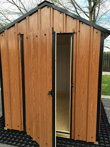 12ft x 6ft Wood Grain Steel Shed