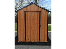 6ft x 6ft Wood Grain Steel Shed