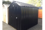 16ft x 6ft Black Steel Garden Shed