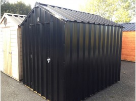 8ft x 6ft Black Steel Garden Shed
