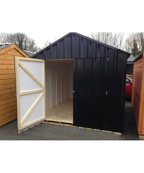 Garden Sheds Kilkenny 10ft x 20ft black steel garden shed | garden sheds for sale