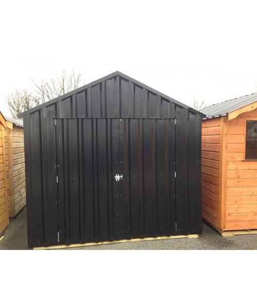 18ft x 8ft black steel garden shed garden sheds for sale for Used metal garden sheds for sale
