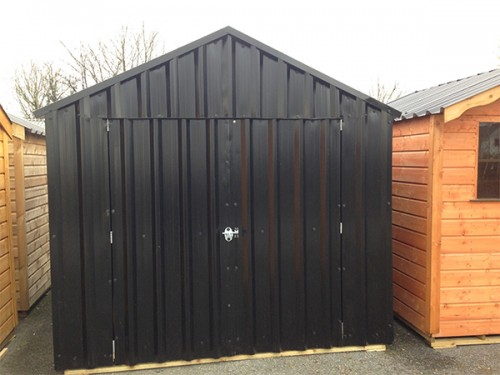 10ft x 18ft Black Steel Garden Shed