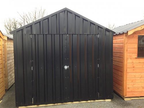 10ft X 10ft Black Steel Garden Shed