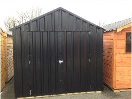 8ft x 8ft Black Steel Garden Shed