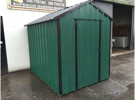 8ft x 6ft Green Steel Garden Shed