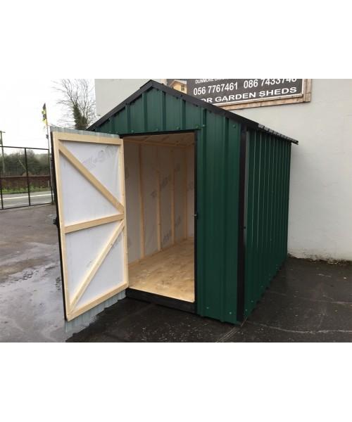 6ft x 6ft green steel garden shed garden sheds for sale for Used metal garden sheds for sale