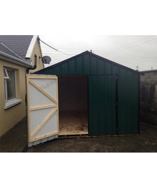10ft x 10ft green steel garden shed garden sheds for sale for Steel sheds for sale