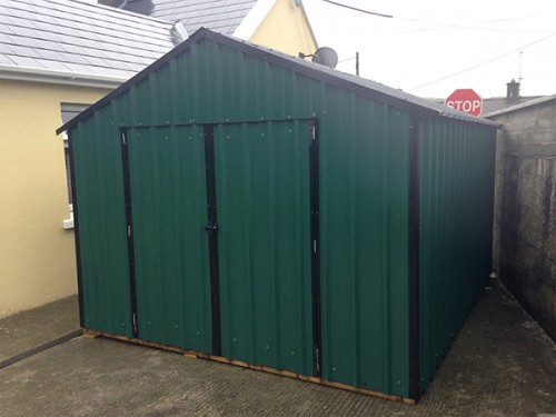 10ft x 8ft Green Steel Garden Shed