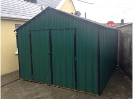 8ft x 8ft Green Steel Garden Shed