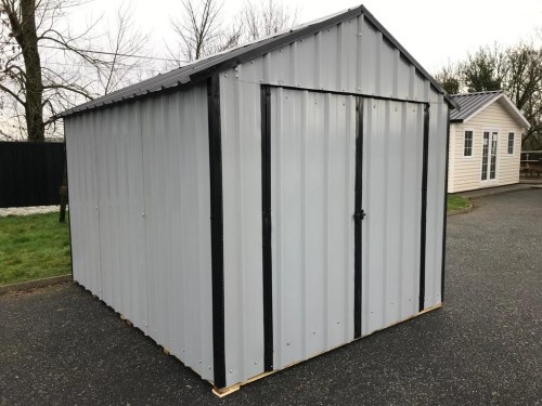12ft x 8ft Grey Steel Garden Shed