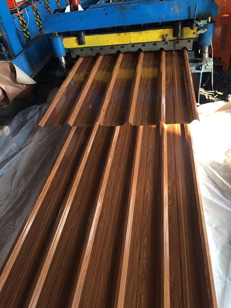 10ft X 8ft Wood Grain Steel Shed